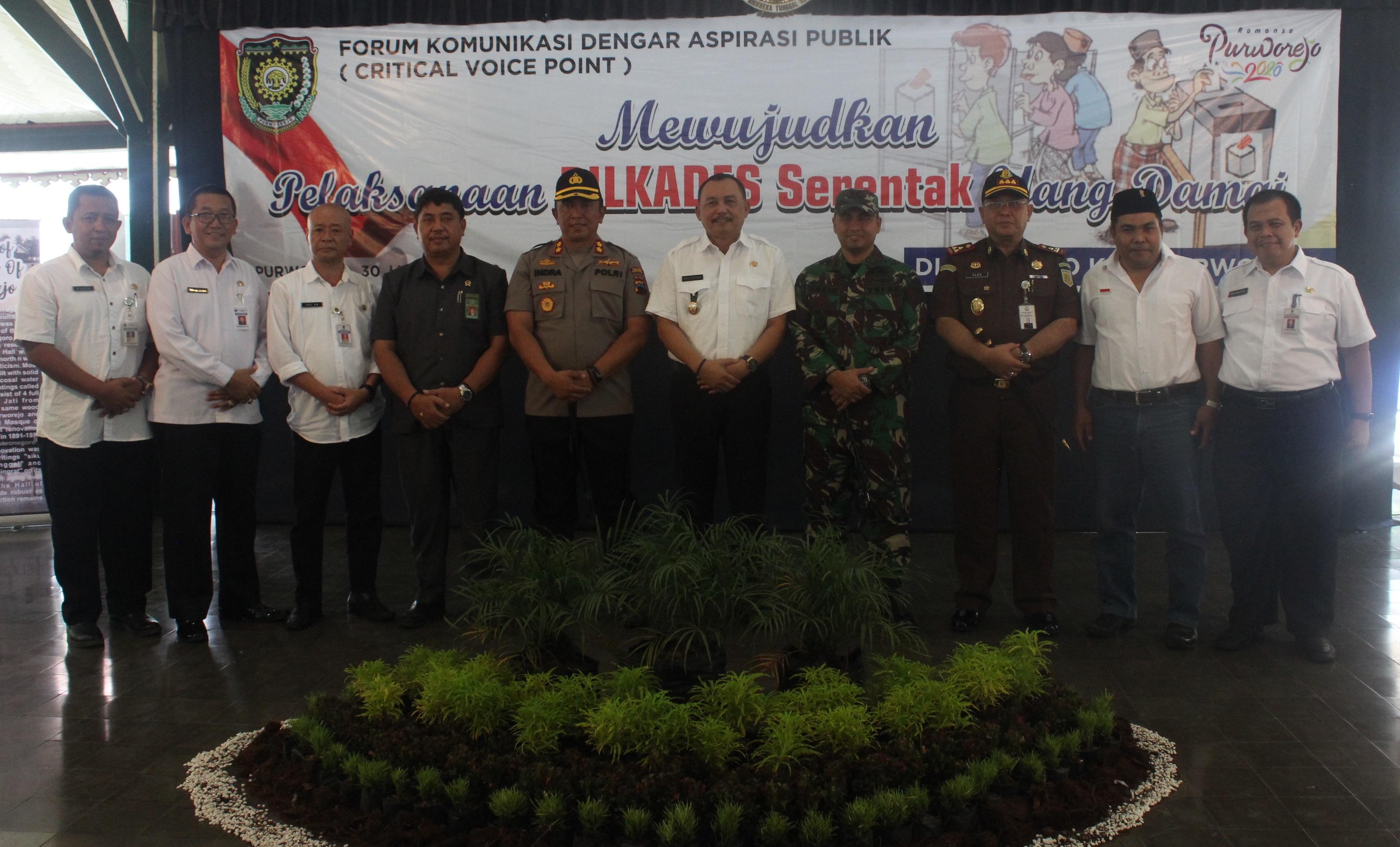 CVP Perdana 2019, Mewujudkan Pelaksanaan Pilkades Serentak Yang Damai