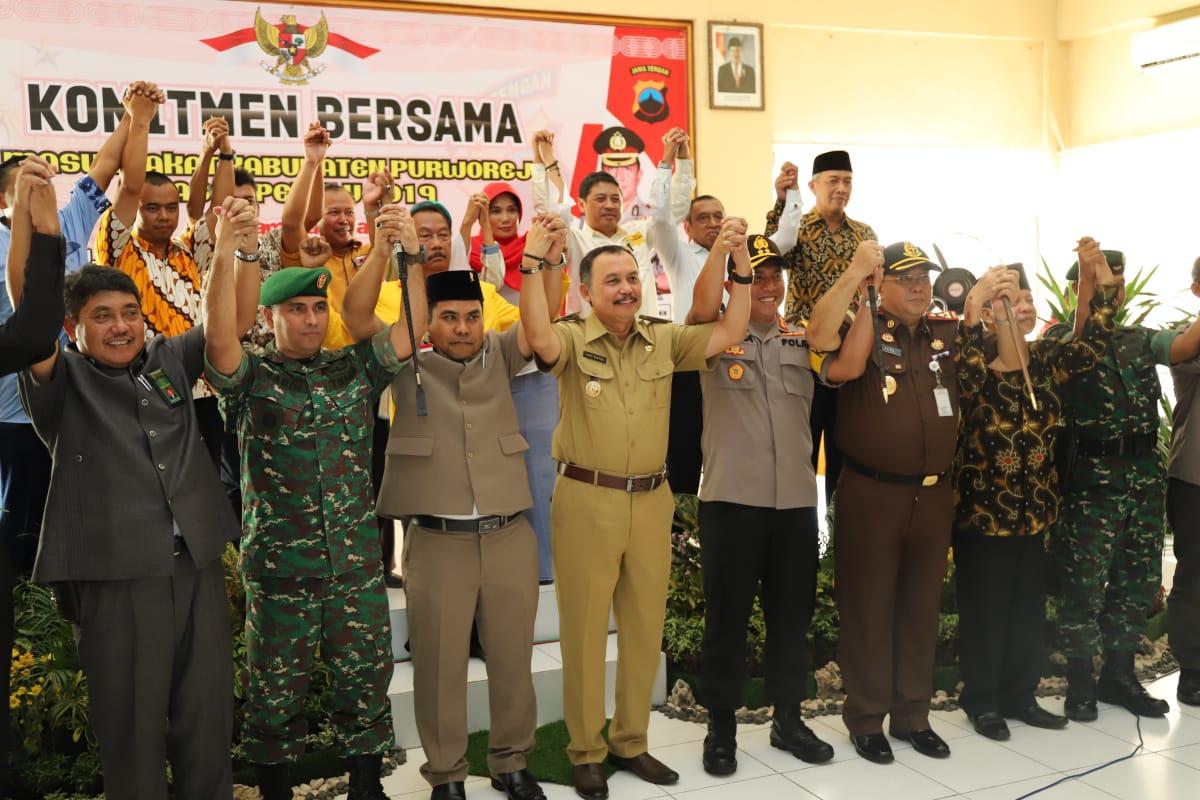 Polres Purworejo Inisiasi Komitmen Bersama Pererat Persatuan