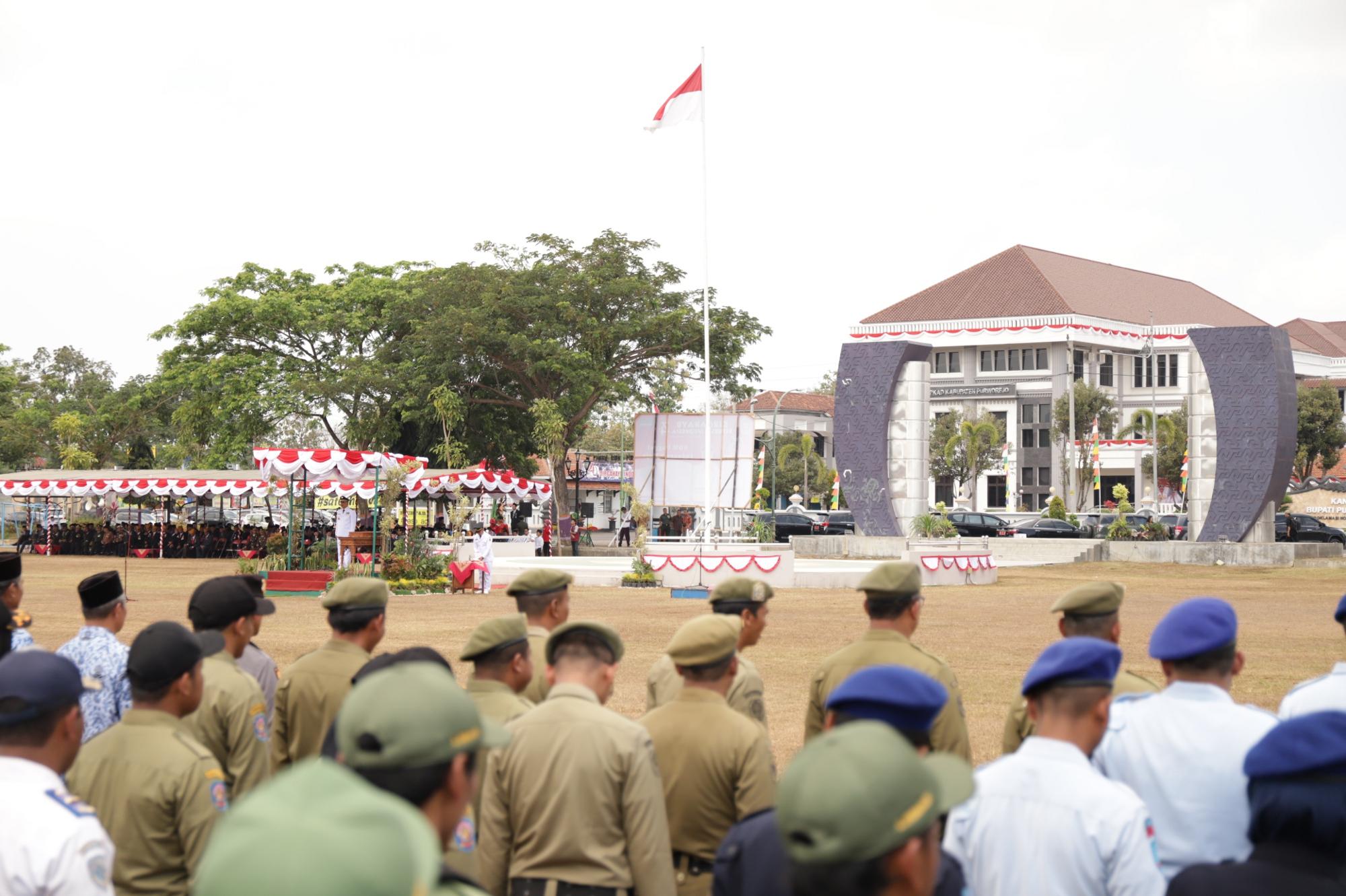 Upacara peringatan HUT ke 74 RI Di Purworejo Berlangsung Khidmat