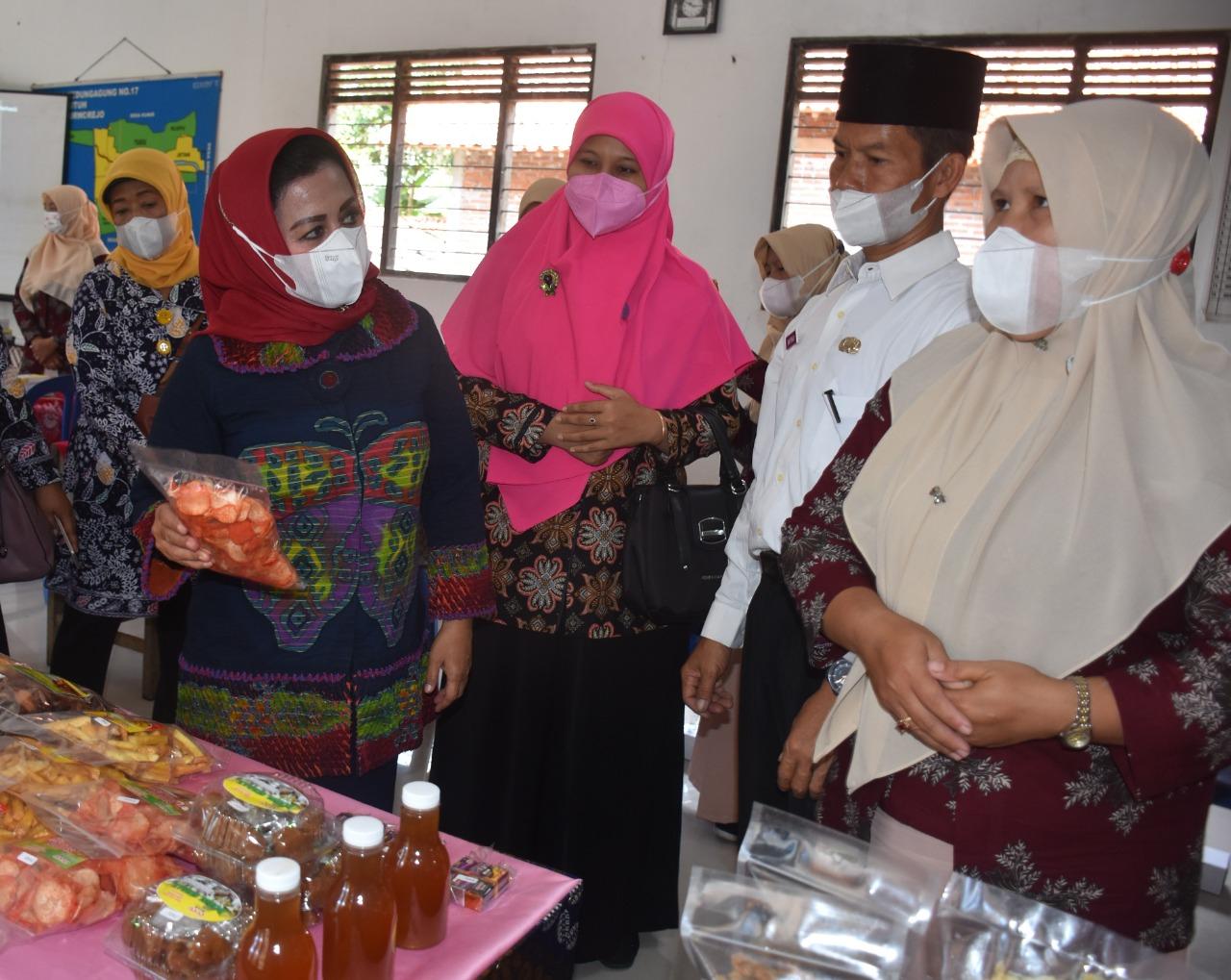 Fatimah Agus Bastian Tinjau UP2K Desa Kedungagung